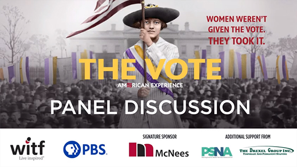 The Vote event banner